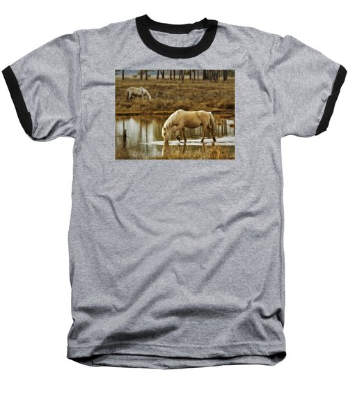 Chincoteague Gold Baseball T-Shirt by Joan Davis