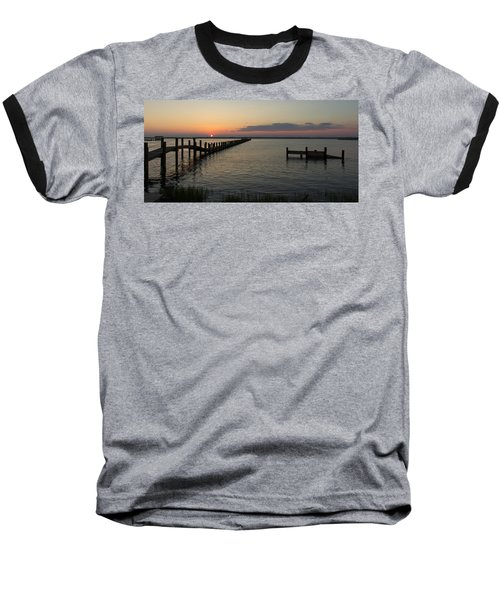 Chincoteague Island Sunset Baseball T-Shirt