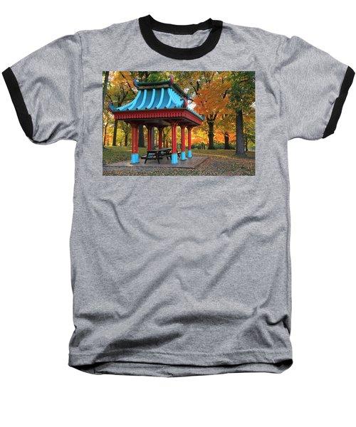 Chinese Shelter In Autumn Baseball T-Shirt
