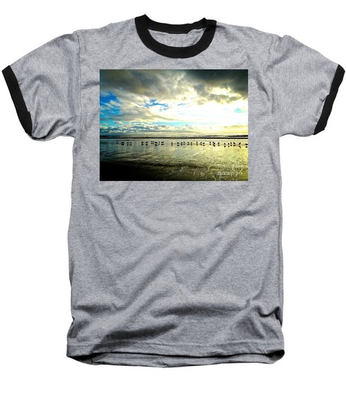 Baseball T-Shirt featuring the photograph A Chorus Line  by Margie Amberge