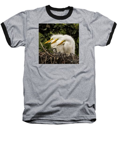 Chow Line Baseball T-Shirt by Priscilla Burgers