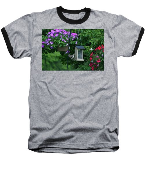 Baseball T-Shirt featuring the photograph Chow Time For This Bird by Thomas Woolworth