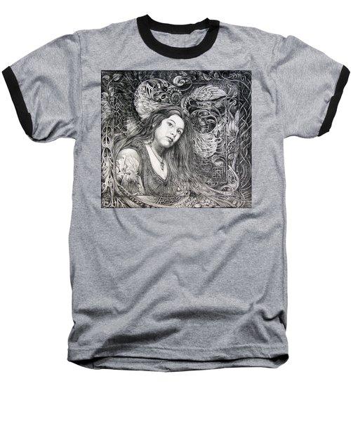 Christan Portrait Baseball T-Shirt