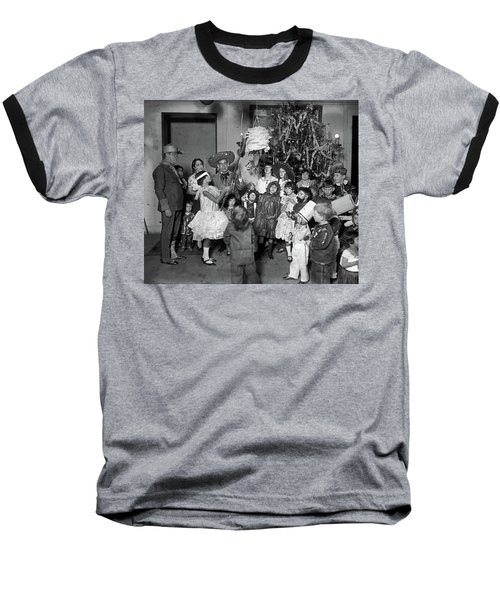 Baseball T-Shirt featuring the photograph Christmas, 1925 by Granger