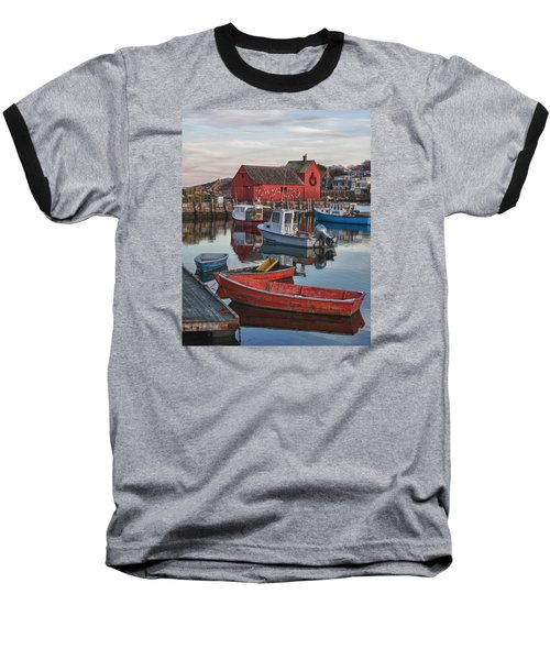 Christmas At Motif1 Rockport Massachusetts Baseball T-Shirt