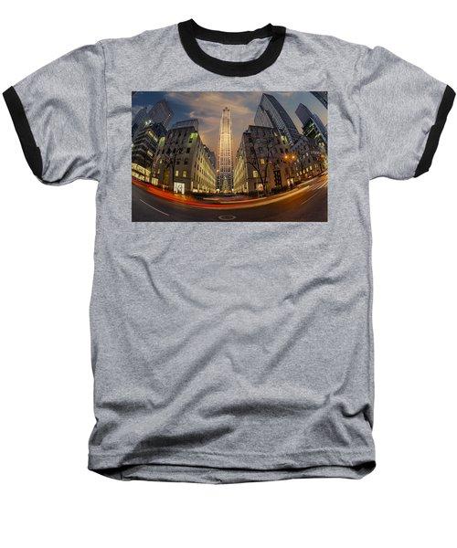 Christmas At Rockefeller Center Baseball T-Shirt
