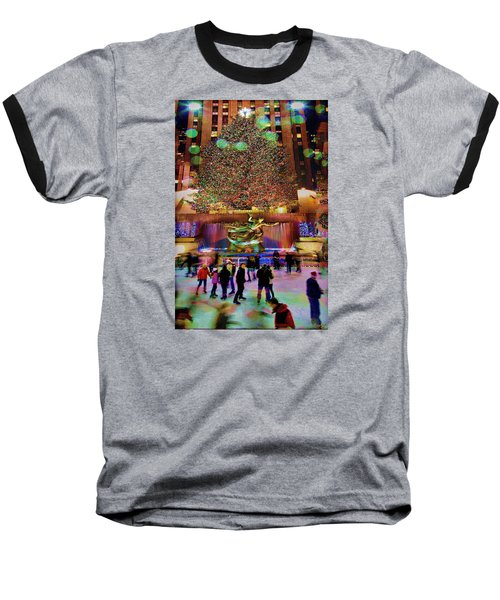 Baseball T-Shirt featuring the photograph Christmas At The Rock by Chris Lord