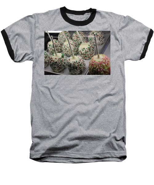 Baseball T-Shirt featuring the photograph Christmas Candy Apples by Bill Owen