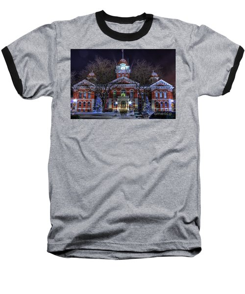 Christmas Courthouse Baseball T-Shirt