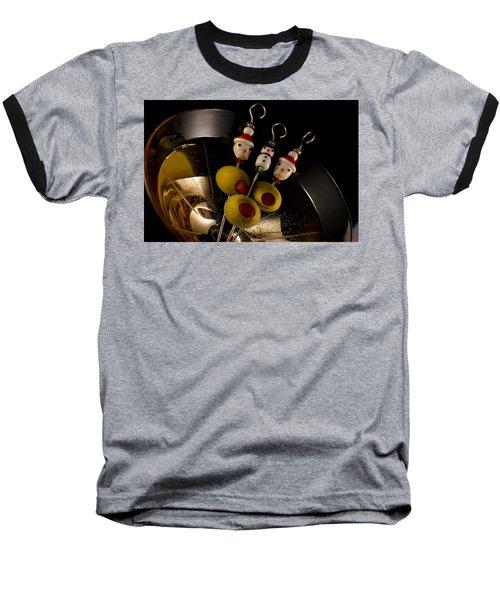 Christmas Crowded Martini Baseball T-Shirt