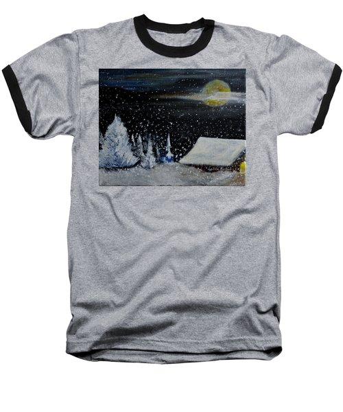Christmas Eve Baseball T-Shirt by Dick Bourgault