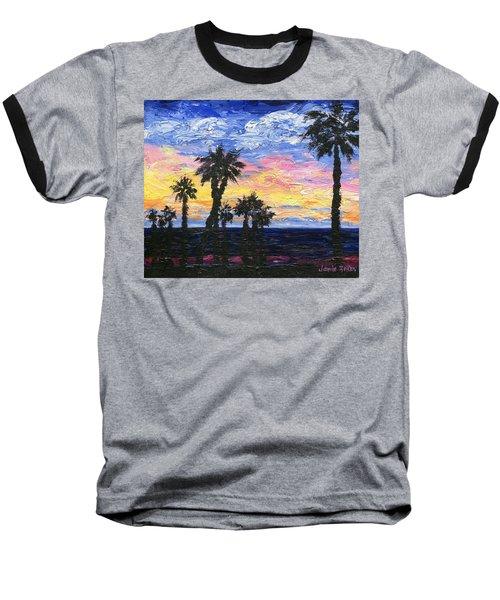 Christmas Eve In Redondo Beach Baseball T-Shirt by Jamie Frier