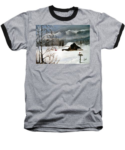 Christmas Farm House Baseball T-Shirt