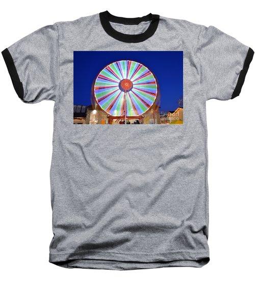 Baseball T-Shirt featuring the photograph Christmas Ferris Wheel by George Atsametakis