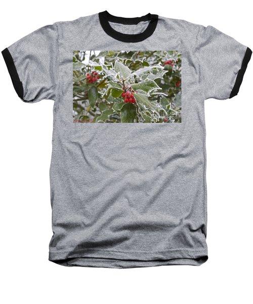 Christmas Greetings Baseball T-Shirt by Felicia Tica