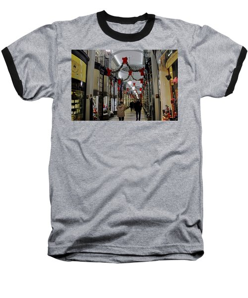 Christmas In Piccadilly Arcade Baseball T-Shirt