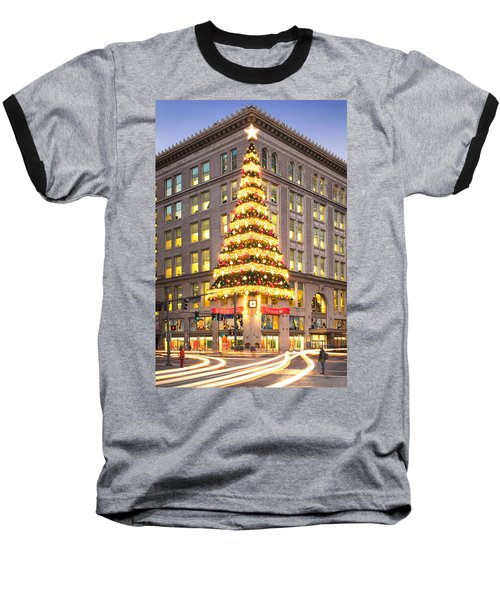 Christmas In Pittsburgh  Baseball T-Shirt by Emmanuel Panagiotakis