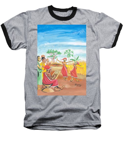 Christmas In Rwanda Baseball T-Shirt by Emmanuel Baliyanga