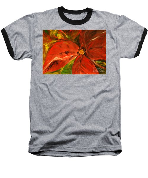 Baseball T-Shirt featuring the painting Christmas Star by Jasna Dragun