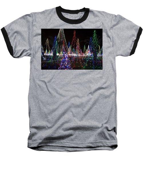 Christmas Lights 3 Baseball T-Shirt