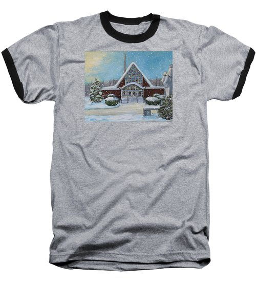 Christmas Morning At Our Lady's Church Baseball T-Shirt by Rita Brown