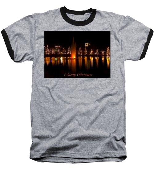 Christmas Reflection - Christmas Card Baseball T-Shirt