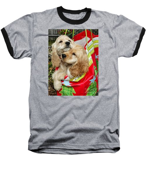 Christmas Shopping Baseball T-Shirt