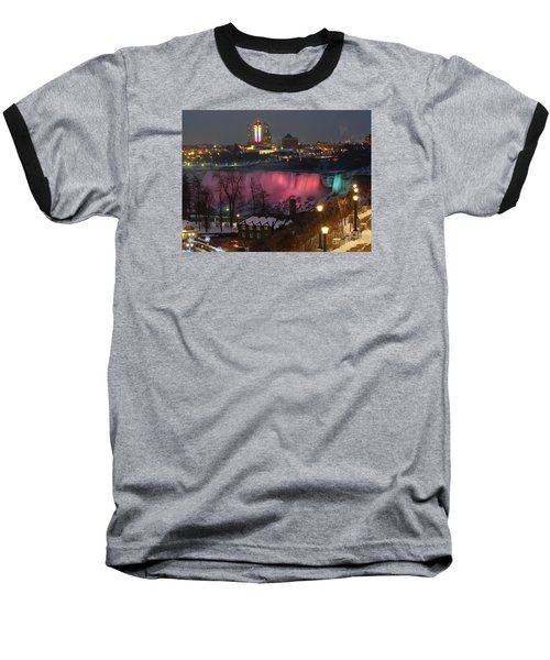 Christmas Spirit At Niagara Falls Baseball T-Shirt