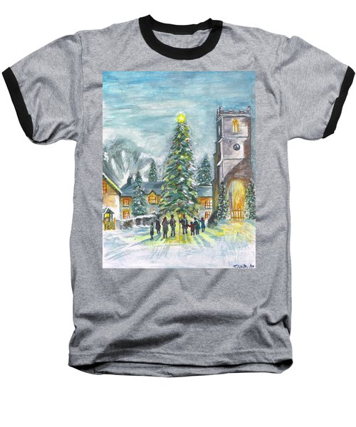 Baseball T-Shirt featuring the painting Christmas Spirit by Teresa White