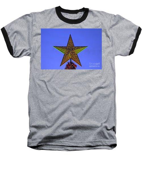 Christmas Star During Dusk Time Baseball T-Shirt
