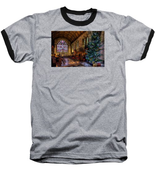 Christmas Time Baseball T-Shirt by Adrian Evans