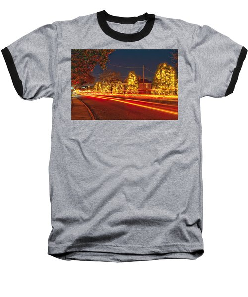 Baseball T-Shirt featuring the photograph Christmas Town Usa by Alex Grichenko