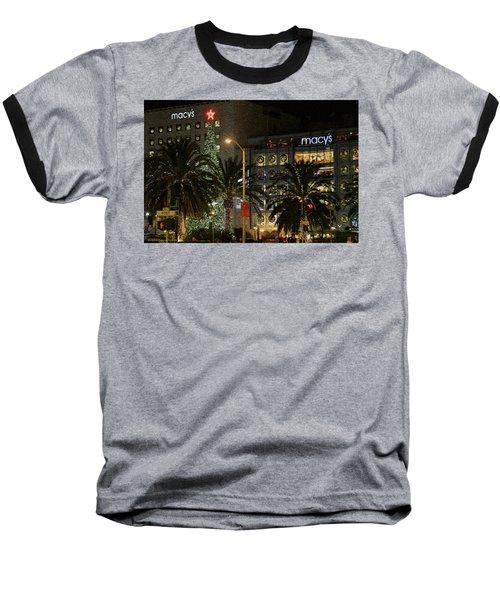 Christmas Tree At Union Square Baseball T-Shirt