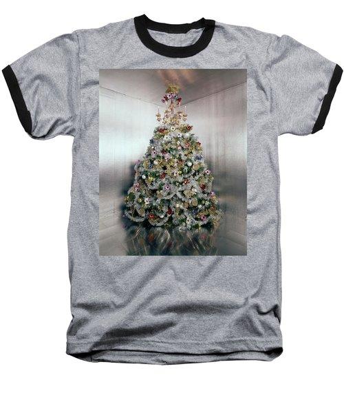 Christmas Tree Decorated By Gloria Vanderbilt Baseball T-Shirt
