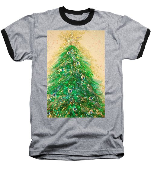 Christmas Tree Gold By Jrr Baseball T-Shirt