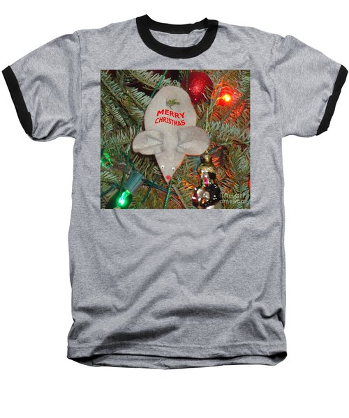 Christmas Tree Mouse Baseball T-Shirt