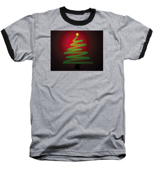 Christmas Tree With Star Baseball T-Shirt by Genevieve Esson