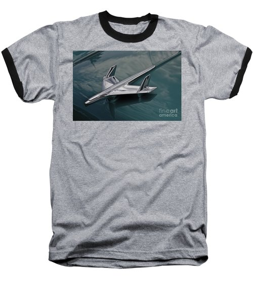 Chrome Airplane Hood Ornament Baseball T-Shirt