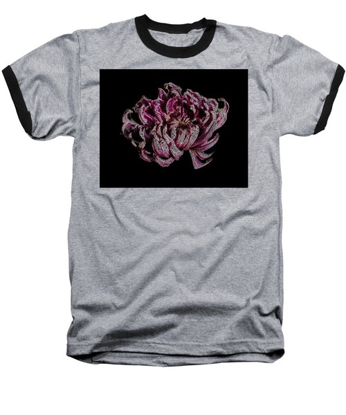 Baseball T-Shirt featuring the digital art Chrysanthemum Scribble by Stephanie Grant