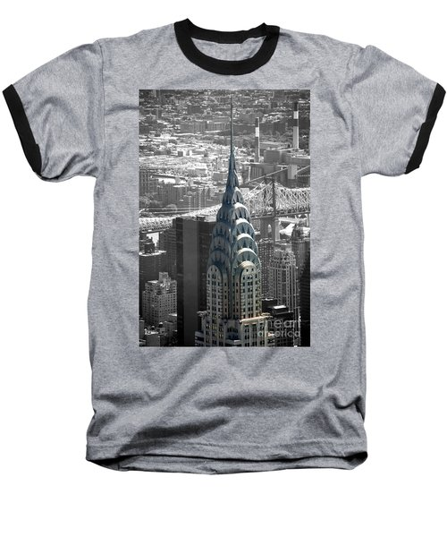 Chrysler Building Baseball T-Shirt