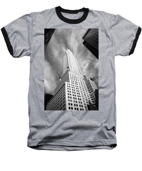 Chrysler Building Infrared Baseball T-Shirt
