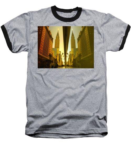 Chrysler Reflection On 42nd Street Baseball T-Shirt