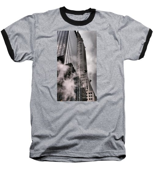 Chrysler Building With Gargoyles And Steam Baseball T-Shirt by Miriam Danar