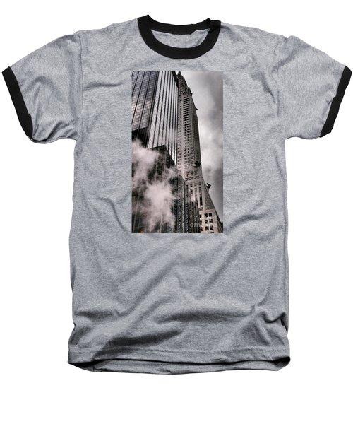 Chrysler Building With Gargoyles And Steam Baseball T-Shirt
