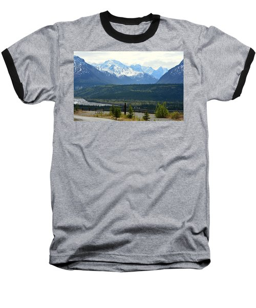 Chugach Mountains Baseball T-Shirt