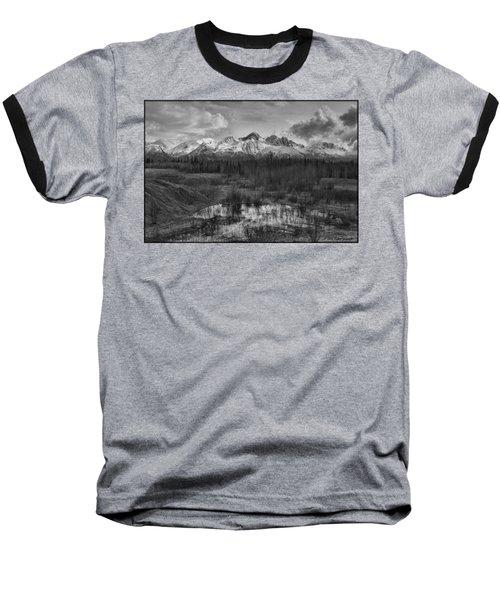 Chugach Mtn Range Baseball T-Shirt