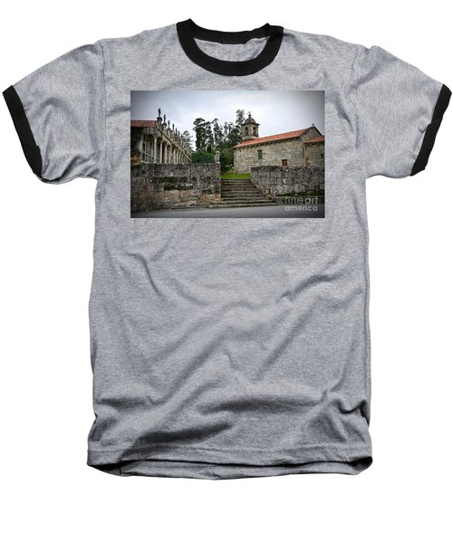 Church And Cemetery In A Small Village In Galicia Baseball T-Shirt