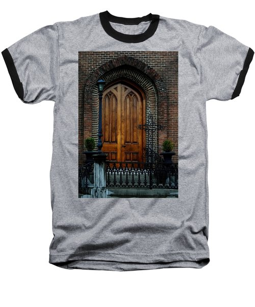 Church Arch And Wooden Door Architecture Baseball T-Shirt