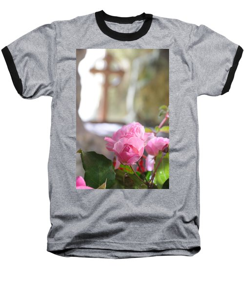 Church Flowers Baseball T-Shirt