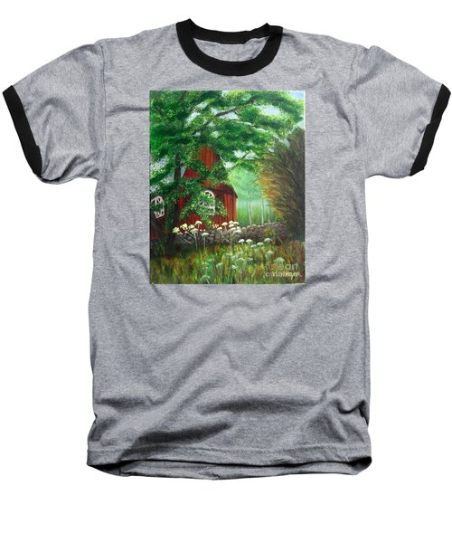 Church In The Glen Baseball T-Shirt by Laurie Morgan